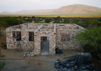 Der Rohbau in Namibia